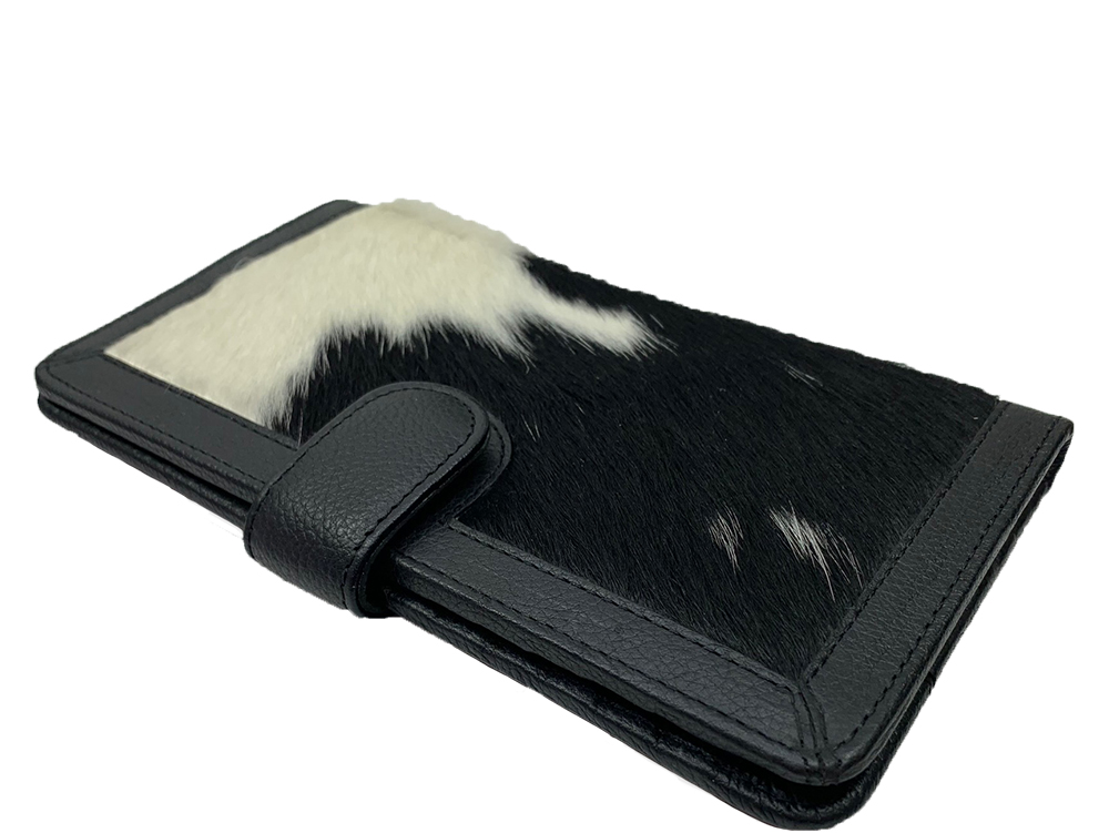 Belle Couleur - Zoe Black and White Cowhide Wallet