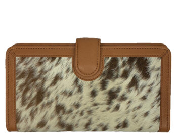 Belle Couleur - Zoe Speckled Tan and White Cowhide Wallet