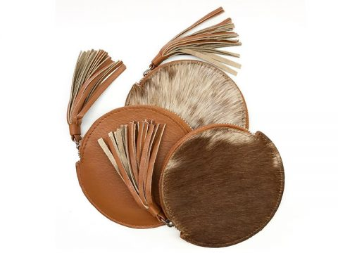 Round Cowhide Purses