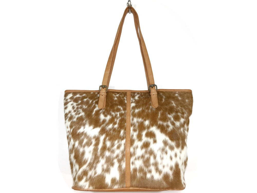 7b1c14cda Adele - Speckled Tan and White Cowhide Bag | Belle Couleur ®