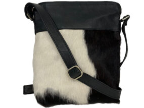 Harriet Black and White Cowhide Bag