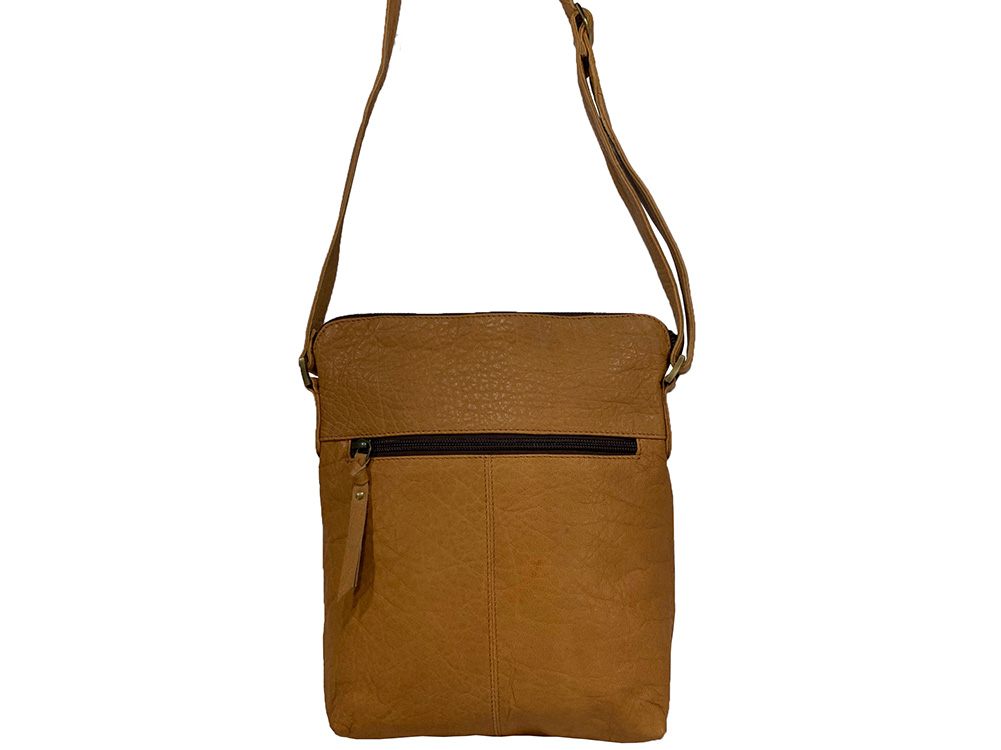 Belle Couleur - Harriet Speckled Tan and White Cowhide Bag