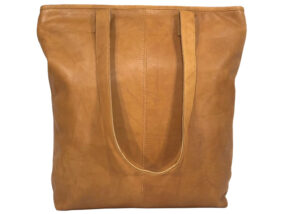 Belle Tan Leather Tote Bag