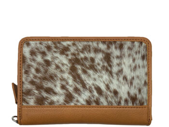 Belle Couleur - Patrice Tan and White Cowhide Wallet