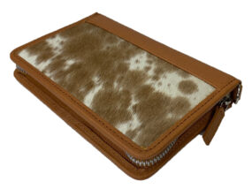 Patrice Tan and White Cowhide Wallet