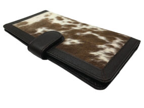 Zoe Chocolate and White Cowhide Wallet