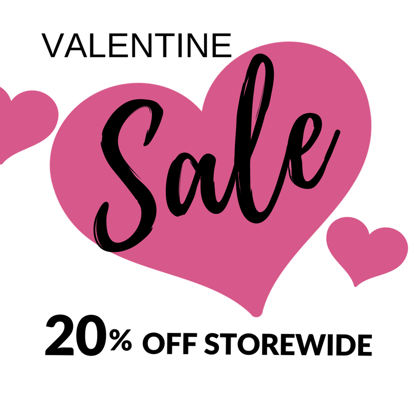 A Valentines Day deal you'll love! 20% OFF storewide!