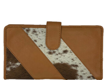 Belle Couleur - Gabriel Speckled Tan and White Cowhide Wallet