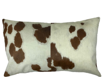 Belle Couleur - Speckled Tan and White Rectangle Cowhide Cushion