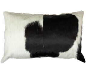 Black and White Cowhide Rectangle Cushion