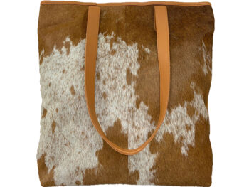 Belle Couleur - Belle Flecked Tan and White Cowhide Bag