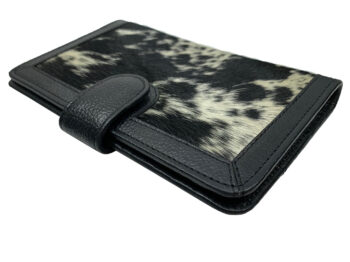 Belle Couleur - Isabelle Dark Black and White Cowhide Wallet
