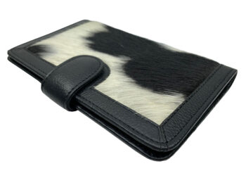 Belle Couleur - Isabelle Flecked Black and White Cowhide Wallet