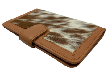 Belle Couleur - Isabelle Flecked Tan and White Cowhide Wallet