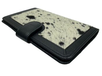 Belle Couleur - Isabelle Light Black and White Cowhide Wallet