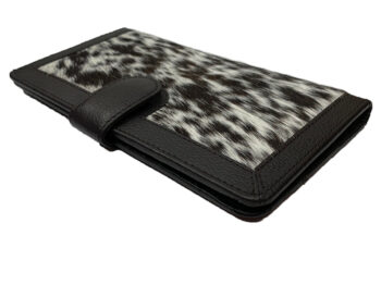 Belle Couleur - Zoe Flecked Chocolate and White Cowhide Wallet