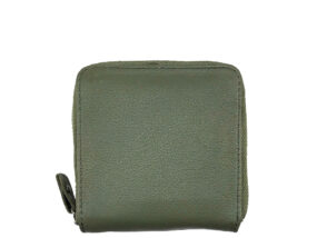Simone Olive Green Square Leather Wallet