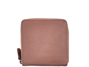 Simone Peony Pink Square Leather Wallet