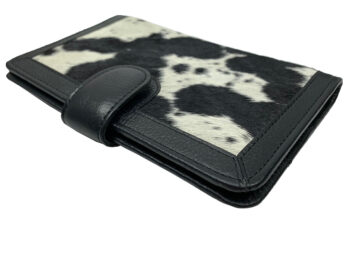 Belle Couleur - Isabelle Speckled Black and White Cowhide Wallet