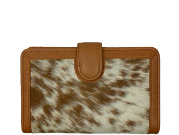 Belle Couleur - Isabelle Speckled Tan and White Cowhide Wallet
