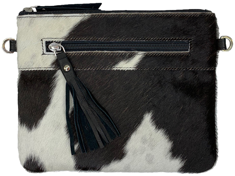 Manon Black and White Cowhide Bag