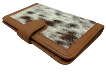 Belle Couleur - Isabelle Light Tan and White Cowhide Wallet