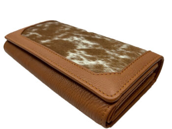 Belle Couleur - Odette Tan and White Cowhide Wallet