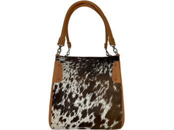 Belle Couleur - Margot Flecked Tan and White Cowhide Bag