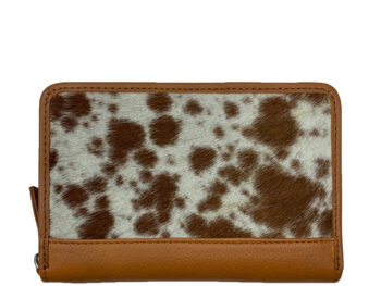 Belle Couleur - Patrice Speckled Tan and White Cowhide Wallet