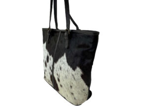 Adele Speckled Chocolate and White Cowhide Bag