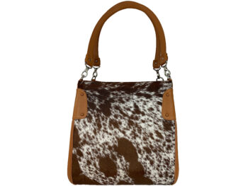 Belle Couleur - Margot Speckled Tan and White Cowhide Bag