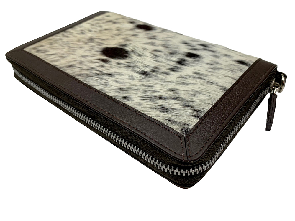 Colette Chocolate and White Cowhide Wallet