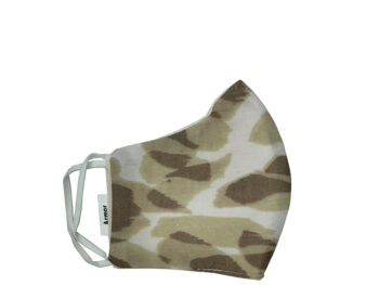 Small Fabric Face Mask - Brown Camo