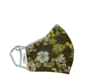 Small Fabric Face Mask - Green Floral