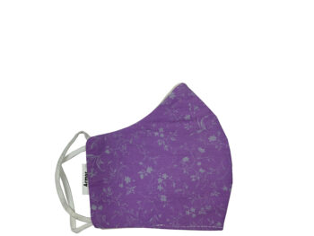 Small Fabric Face Mask - Purple Floral