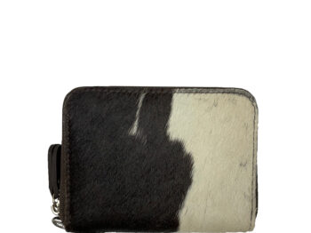 Belle Couleur - Elle Chocolate and White Cowhide Wallet