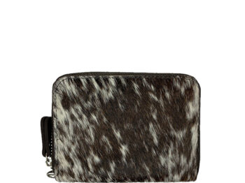 Belle Couleur - Elle Flecked Chocolate and White Cowhide Wallet
