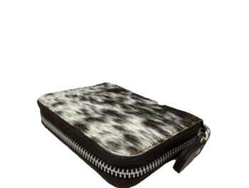 Belle Couleur - Elle Speckled Chocolate and White Cowhide Wallet